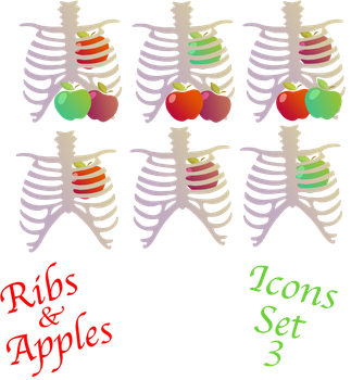 Ribs and Apples Icon Set 3 by GodsGirlRachel