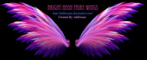 Bright Neon Fairy Wings - Fractal by mkbrouse