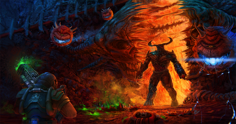 Doom guy invasion by tacihon