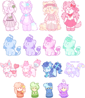 pastel themed adopts #1~ (CLOSED) by Carol2015