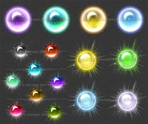 Magic Orbs 1 (downloadable stock) by Rittik-Designs
