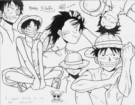 Monkey D. Luffy - Markers by Andrea--P