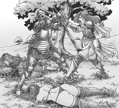 Bringing armor to a chainmail bikini fight by Shabazik