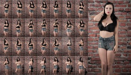 Stock: Emily Jean Shorts and Bra - 28 Images by stockphotosource