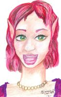 Red Haired Green Eyed Fairy Elf Girl by StephanieSmall