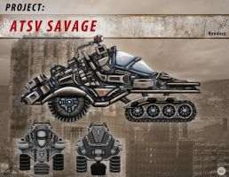 Sci Fi Vehicle Concepts - ATSV Savage 01 by JCobes