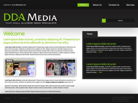DDA Media Corporate Layout by influenceddesign