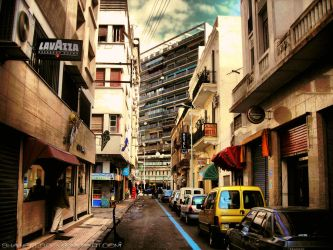 Casablanca narrow street by shaheeed