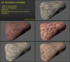 Free 3D textures pack 24 by Yughues