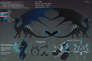 Kurosia : Queen Athrenna Reference by WeirdHyenas