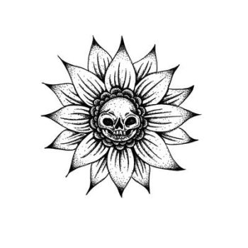 Skull Flower by Dracuria