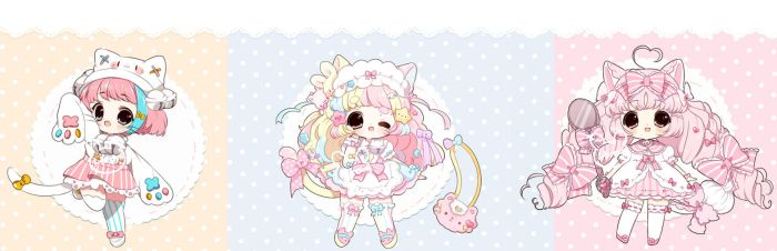[Auction ] Cute Adopts [ CLOSED ] by Hinausa