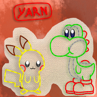 Yoshi and Pikachu epic Yarn by Coonstito