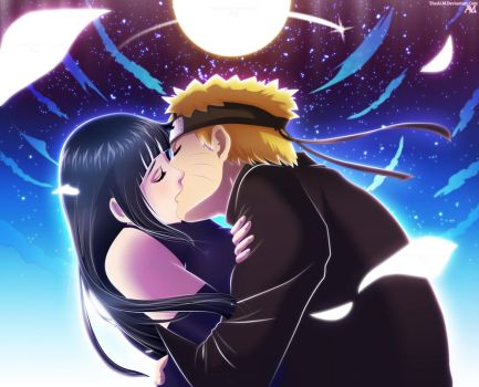 NaruHina Kiss by TheALM