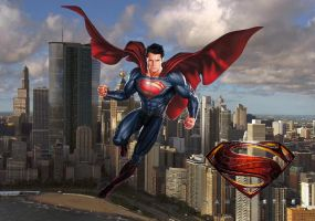 Superman Above Metropolis Wallpaper by nickelbackloverxoxox