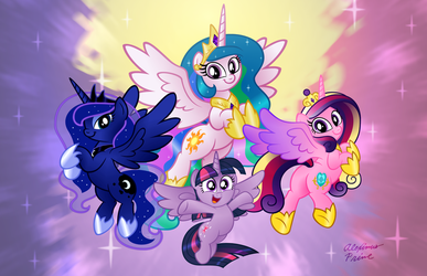 Equestrian Royalty by AleximusPrime