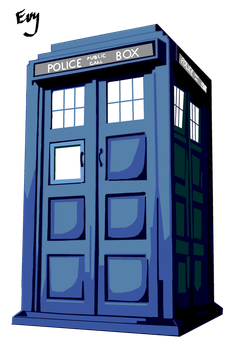 Tardis Vector by SerenEvy