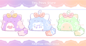 [Closed!] Pastel Kitten Batch Adopt 1 by TinyPawsStore