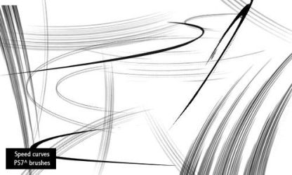 speed curves by screentones