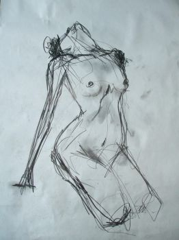 A nude model by elpajo