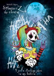 SplatterZ the clown girl by BasilTwistedToons