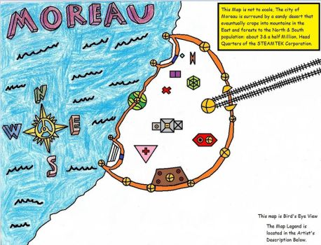 Sonic Steam: Map of the City of Moreau by IWasATennageDilbert