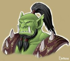 WoW - Orc warrior by Evolvana