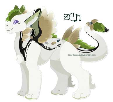 [YCH] Zen The Bamboo Angel Dragon - Sticker by Solar-Paragon