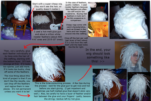 Feather Wig Tutorial by Timekeeper101