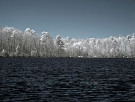 Infrared Lake by blackismyheart90