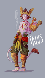 Talus Fanart (Paladins champions of the realms) by FUK4A