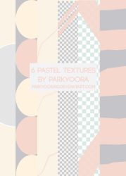 6 PASTEL TEXTURES by parkyoora10 by parkyoora10