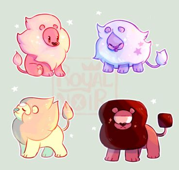 Gem Lions by RoyalNoir