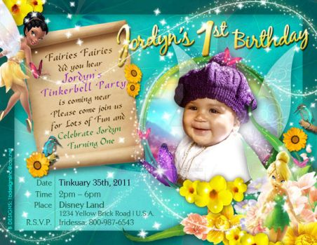Tinkerbell Invitation by AnotherBcreation