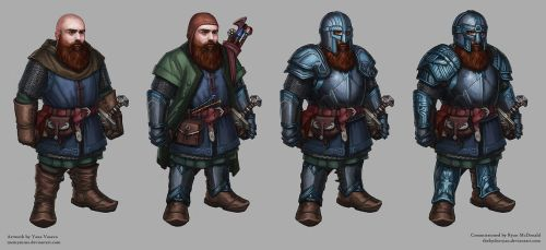 Dwarf RPG character for Ryan by MeMyMine