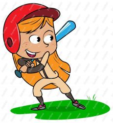 Baseball Girl Clipart by fairlyoddfan2010