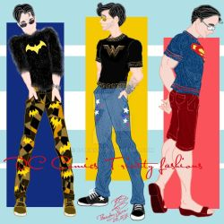 DC Comics Trinity fashions by E-Ocasio