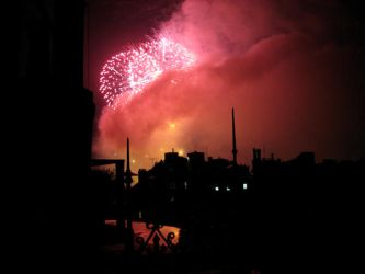 Fireworks Cityscape 3 by hever-stock