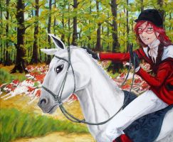 Grelle and the Hounds by skullanddog