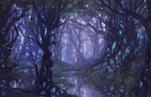 Glowing thicket by dreamin-Lea