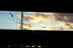 Sun Set at Hamm Hbf by TheConstructor