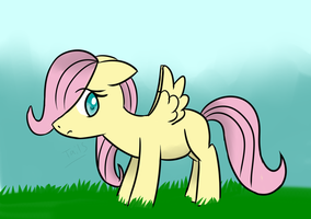 Filly Fluttershy by Tails-Crossing