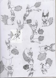 Squirrely sketch page by Pongoi
