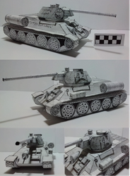 Papercraft T-34 76 by atisuto17