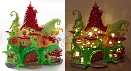 Fairy house lamp by Schunki