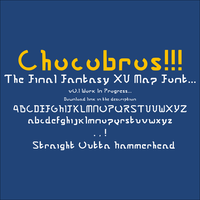 Final Fantasy XV - Map / Signpost Font - Chocobros by inertSpark