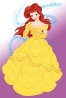 Ariel as Belle by Torenganger