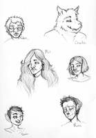 Head Sketches by Qu-Ross