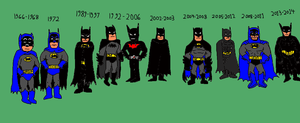 The Many Faces of Batman by LuciferTheShort