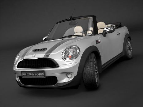Mini Cooper S studio render by pablete